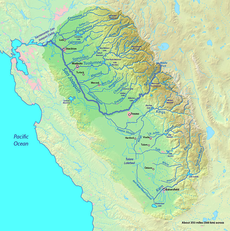 San Joaquin River Watershed, Mainstem and Tributaries